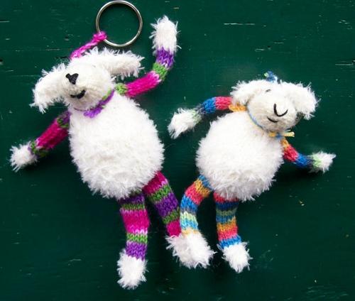 Mini Schaf Eine Idee Für Den Schlüsselanhänger Strick Ideen