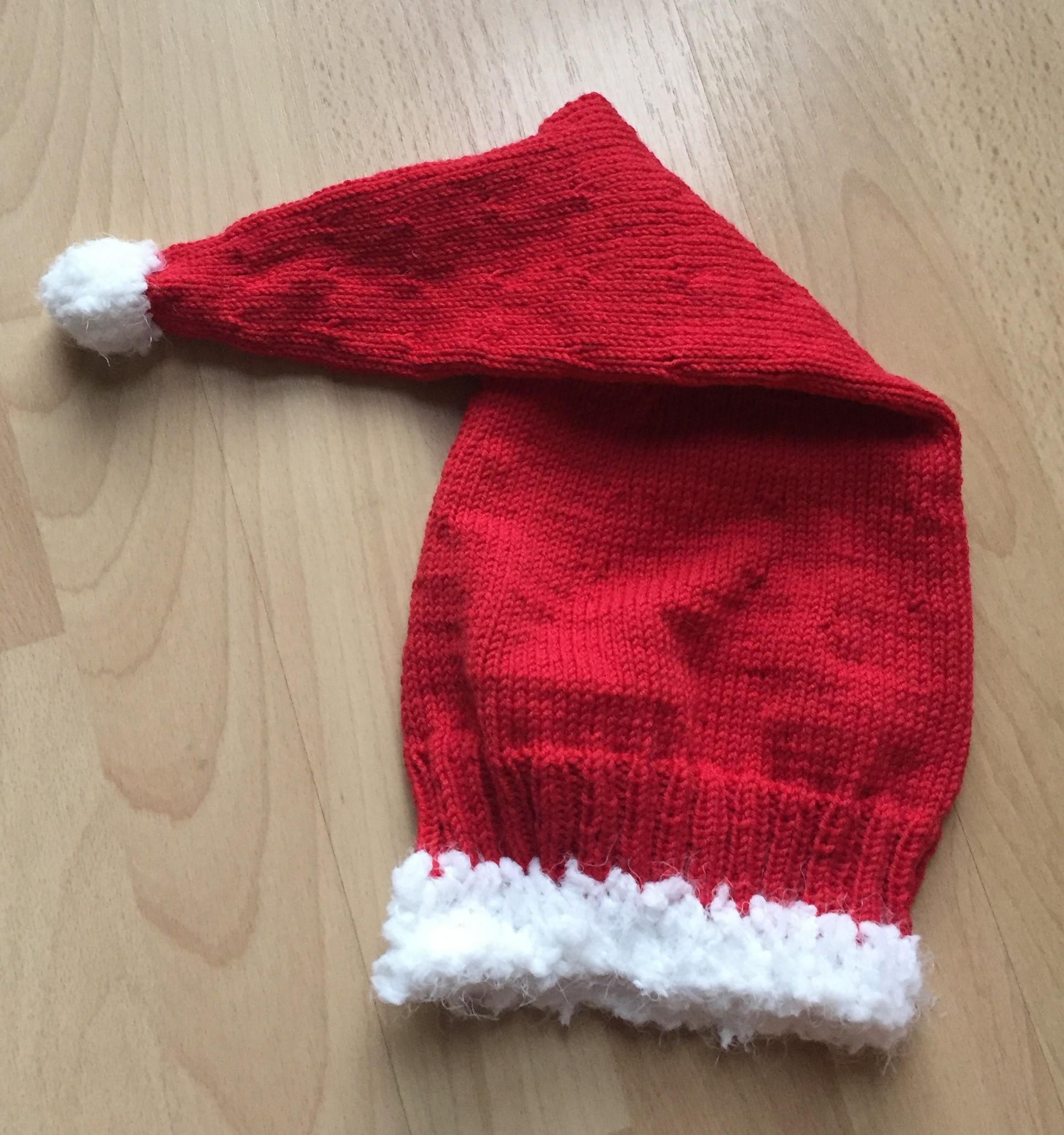 Santas Zipfelmütze Strick Ideen